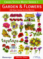Garden And Flowers Cross Stitch Motif Book