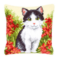 Cat And Flowers Chunky Cross Stitch Kit