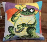 Mr Croa Chunky Cross Stitch Cushion Kit