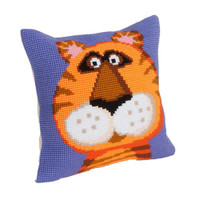 Terence The Tiger Chunky Cross Stitch Cushion Kit