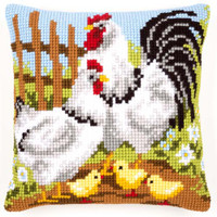 Chicken And Chicks Vervaco Chunky Cushion Kit