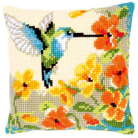 Blue Humming Bird Chunky Cross Stitch Kit