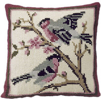 Bullfinches Chunky Cross Stitch Cushion Kit