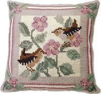 Jenny Wren Chunky Cross Stitch Cushion Kit