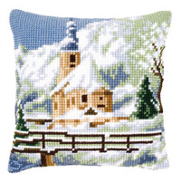Winter Church Chunky Cross Stitch Kit