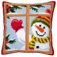 Snowman Chunky Cross Stitch Kit
