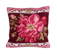 Romantic Rose 1 Chunky Cross Stitch Cushion Kit