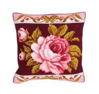 Romantic Rose 2 Chunky Cross Stitch Cushion Kit