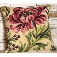 Rose Sauvage A Droite Chunky Cross Stitch Cushion Kit