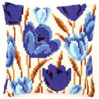 Blue Poppies Chunky Vervaco Cross Stitch Kit