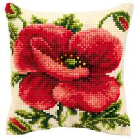 Oriental Poppy Chunky Cross Stitch Cushion
