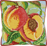 Peaches Chunky Cross Stitch Cushion Kit