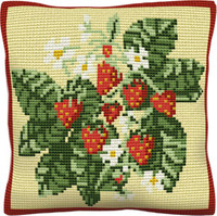 Strawberries Chunky Cross Stitch Cushion Kit
