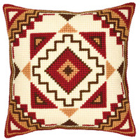 Geometric Chunky Cross Stitch Cushion