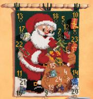 Advent Calendar Father Christmas Chunky Cross Stitch Kit