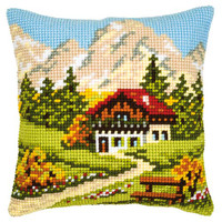 Swiss Cottage Chunky Cross Stitch Kit