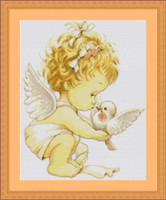 Angel With Dove Petit Cross Stitch Kit By Luca S
