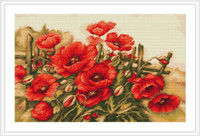 Field Of Poppies Petit Cross Stitch Kit By Luca S