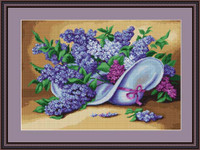 Lilacs Petit Cross Stitch Kit By Luca S