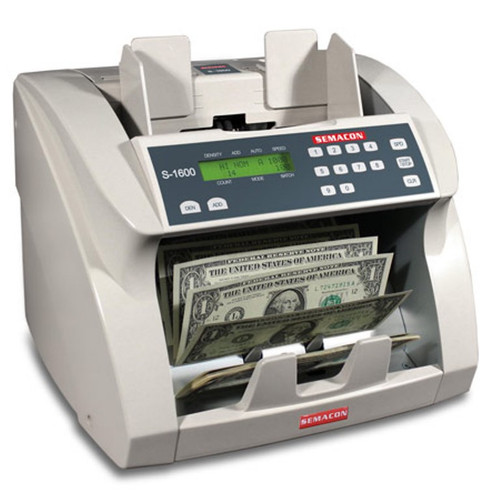 Semacon S-1625 Premium Bank Grade Currency Counter (UV, MG, CF)