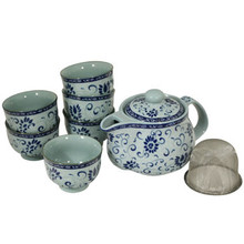 Blue Vine Tea Set  From B&T Trading