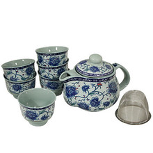 Blue Flower Tea Set  From B&T Trading
