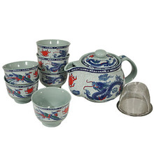 Blue Dragon Tea Set  From B&T Trading