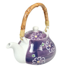 Purple Tea Pot with Daisy's - Medium  From AFG