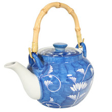 Blue Vine Tea Pot - Large  From AFG