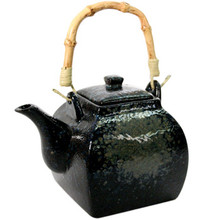 Black Stoneware Teapot - Large  From AFG