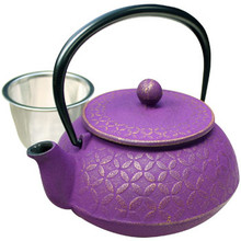 Tetsubin Iron Teapot - Purple with Seven Jewel  From Kotobuki