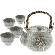 Tea Set - Japanese Grey Blossom  From Kotobuki