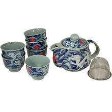 White Dragon Tea Set  From B&T Trading
