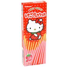 Hello Kitty Strawberry Chocolate Sticks  From Kabaya