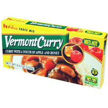 Vermont Curry Medium Hot 8.8 Oz  From House Foods