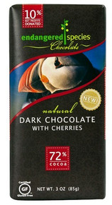 Puffin, Dk Choc w/Cherries, 12 of 3 OZ, Endangered Species