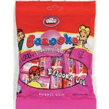 Bazooka Strawberry Bubble Gum, 24 of 6.34 OZ, Elite