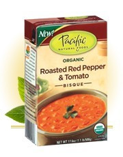 Bisque,Rstd Red Pepper Tomato, 12 of 17.6OZ, Pacific Natural Foods