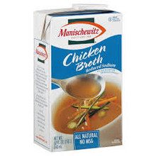 Broth, Chicken, Reduce Sodium, Natural, 12 of 32 OZ, Manischewitz