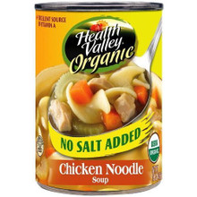 Chicken Noodle, No Salt Added, 12 of 14.5 OZ, Health Valley