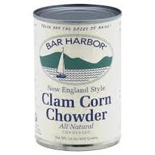 Chowder, Clam & Corn, 6 of 15 OZ, Bar Harbor