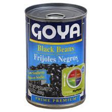 Black Beans, Low Sodium, 24 of 15.5OZ, Goya