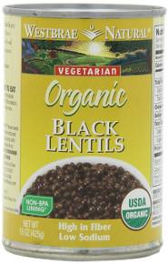Black Lentils, 12 of 15 OZ, Westbrae