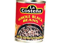 Bean, Whole Black, 12 of 19.75 O, La Costena