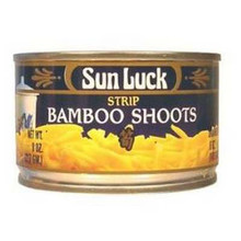 Bamboo Shoots, Strip, 12 of 8 OZ, Sun Luck