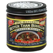 Beef Base, Reduced Sodium, 6 of 8 OZ, Better Than Bouillon