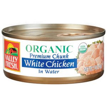White Chicken In Water, 12 of 5 OZ, Valley Fresh
