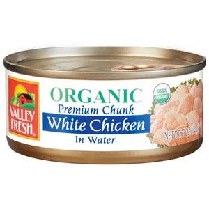 White Chicken In Water, 12 of 5 OZ, Valley Fresh