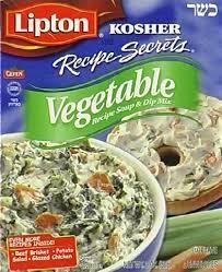 Soup, Vegetable, Kosher, 12 of 2 OZ, Lipton