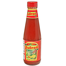 Jufran Banana Sauce Hot 12 oz  From Jufran